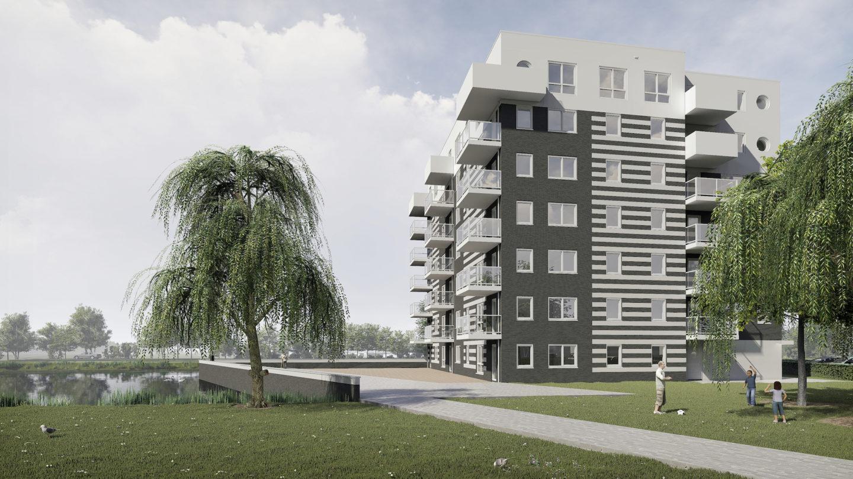 Appartementengebouw Oudvaart Sneek, TWA architecten